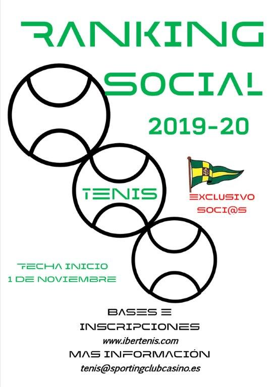 RANKING TENIS SPORTING CLUB CASINO 2019-2020